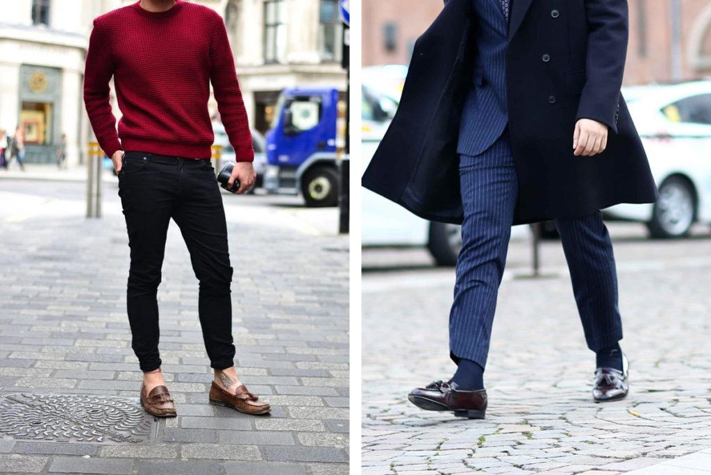 cách đi giày lười mùa đông