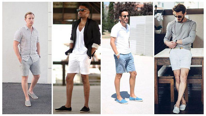 mặc quần sooc đi giày gì